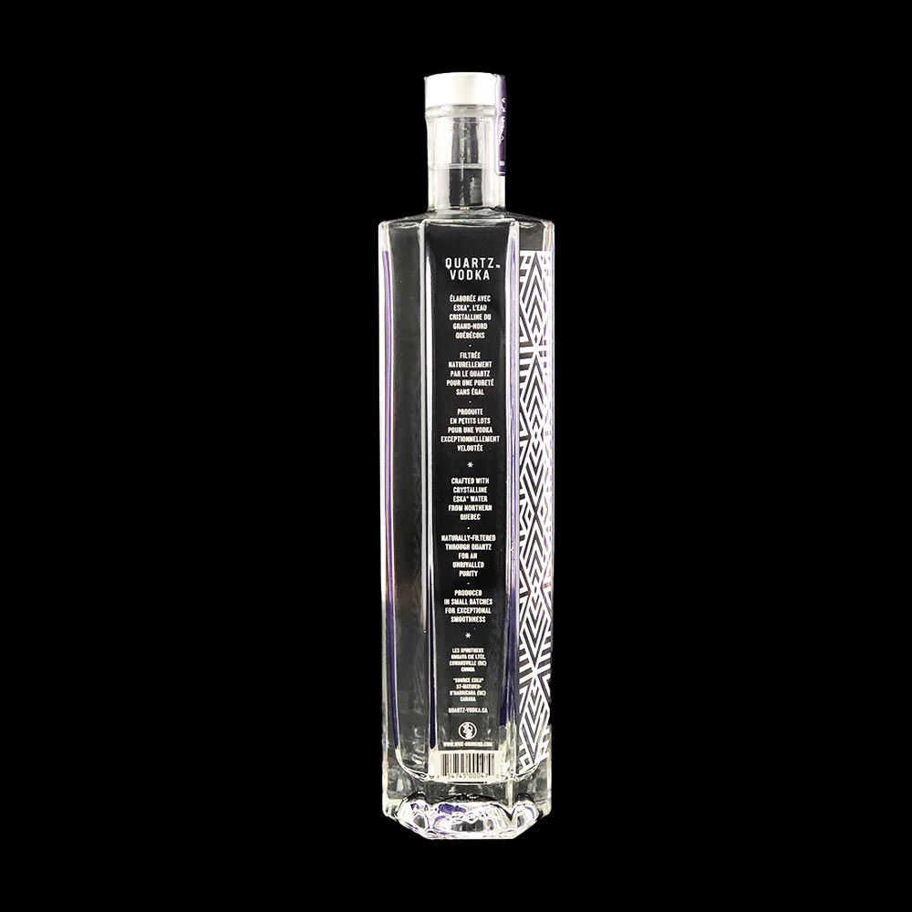 Vodka - Bouteille 750ml - Quartz - Verso