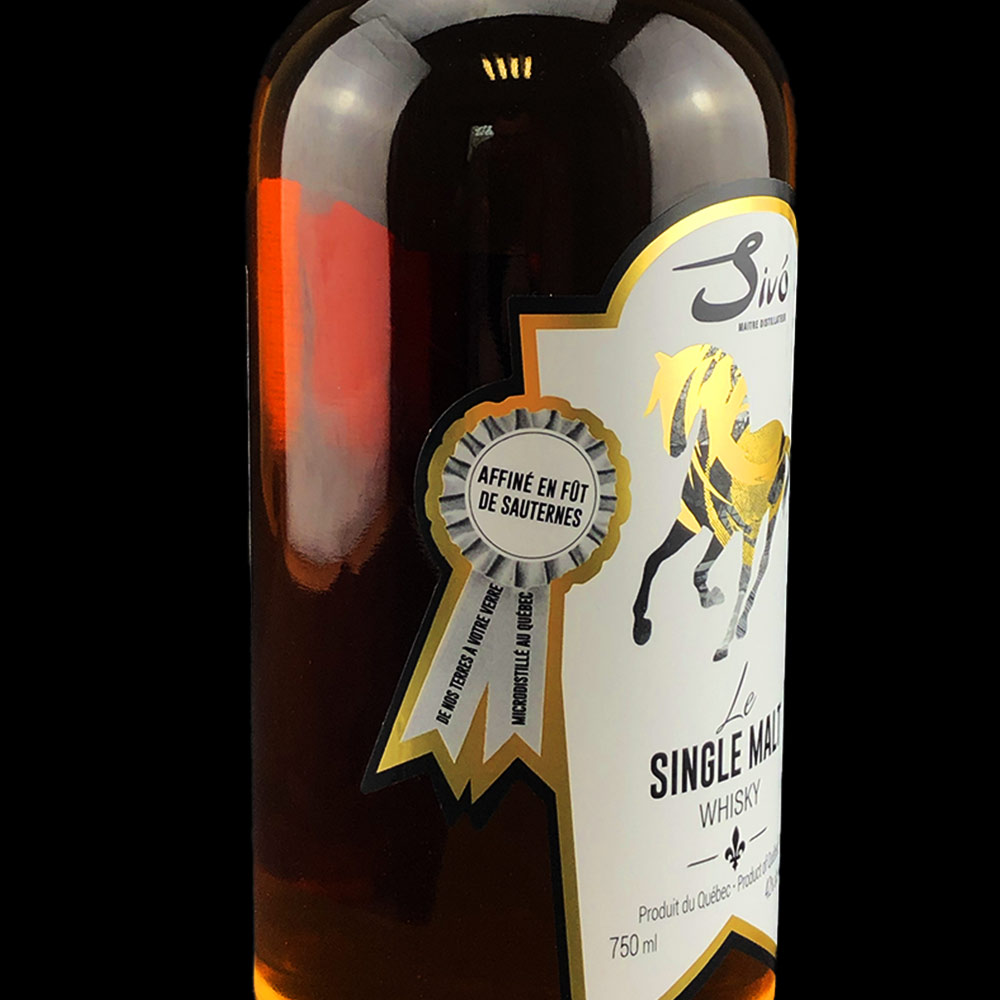 Whisky single malt - Bouteille 750ml - Sivo - Badge